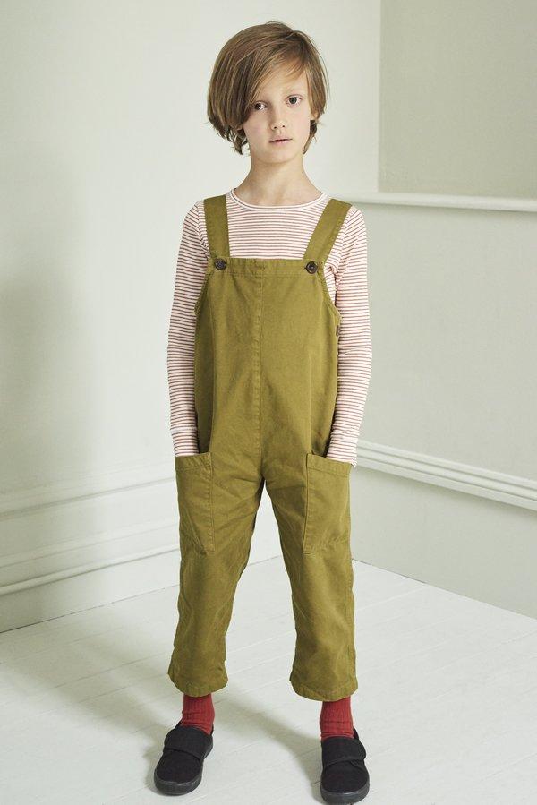 Kids Caramel Hampstead Dungaree - Opaline Green