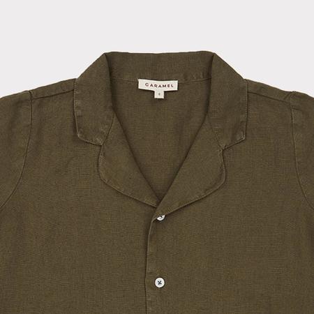 Kids Caramel Holborn Shirt - Army Green