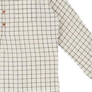 Kids Caramel Pimlico Shirt - Black/Cream Grid