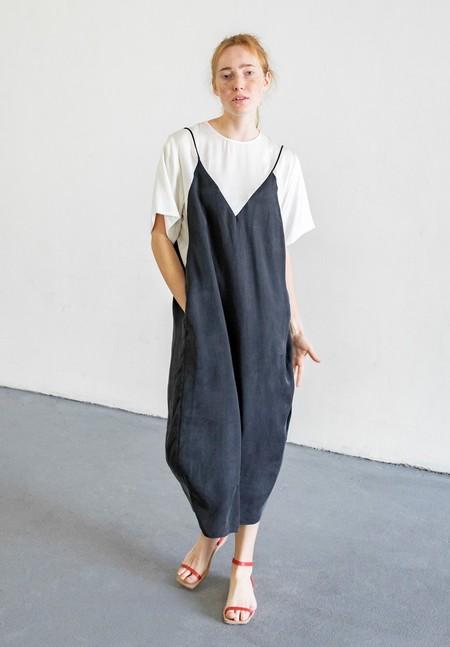 MARA HOFFMAN DAIJA DRESS - CREAM/BLACK