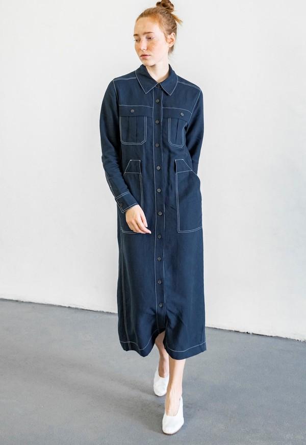 MARA HOFFMAN JUNO DRESS - NAVY