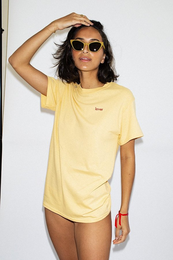 Double Trouble Gang Lover T-shirt - Daisy Yellow