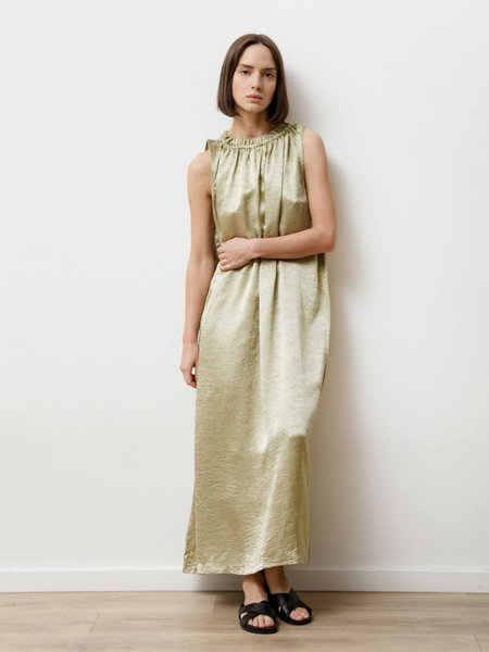 Priory Era Dress - Crushed Slinky Pistachio