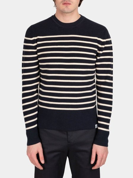 Norse Projects Verner Normandy Cotton Sweater - Dark Navy