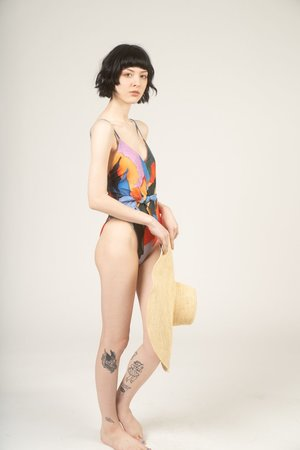 Mara Hoffman Gamela printed one piece swimsuit - multico print