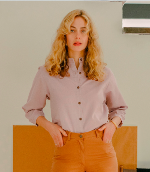 Loup Max Button Up - Lilac