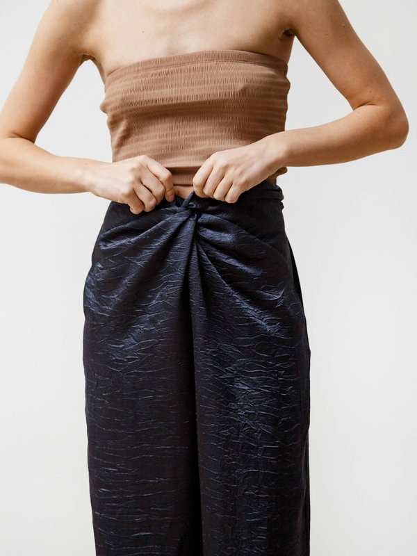 Priory Twist Pant - Crushed Slinky Midnight