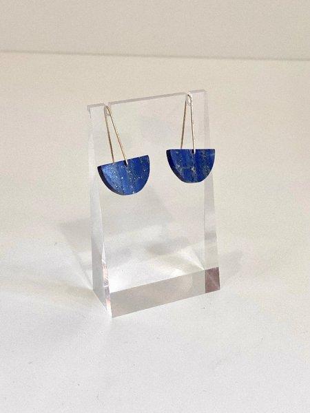 ALISON JEAN COLE Single Stone Lapis Lazuli Earrings