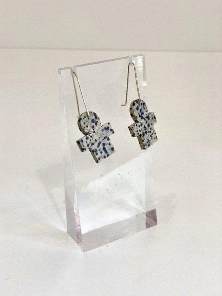 ALISON JEAN COLE Triple Dalmatian Stone Earrings