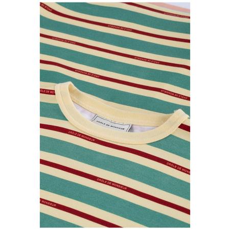Drôle De Monsieur vintage striped tee Green