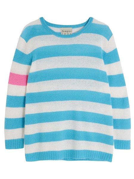 Jumper 1234 Secret Stripe Sweater in Azure - Cream + Candy