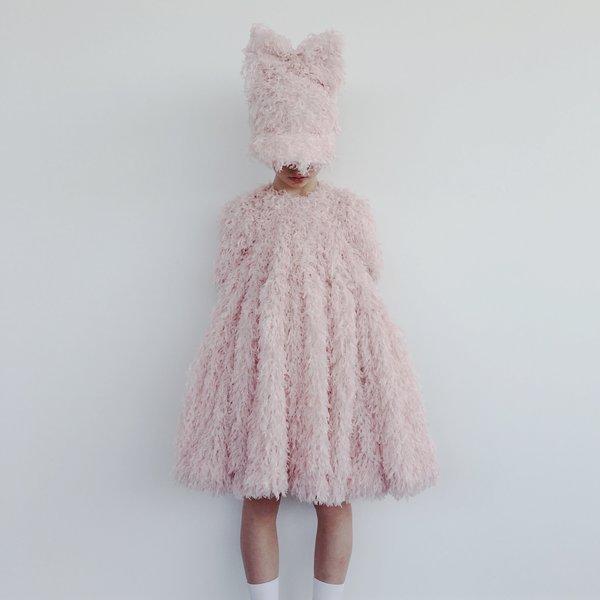 caroline bosmans frill cap with bow - pink