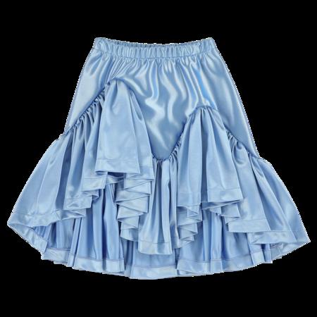 caroline bosmans ruffled skirt - glimmer blue