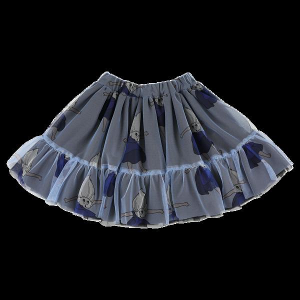 caroline bosmans tulle mini skirt - invasion blue