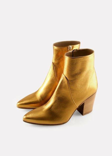 Alumnae Point Toe Boot - Nappa Metallic Bronze