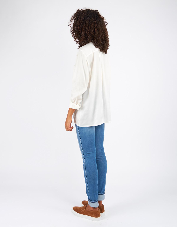 filippa k tencel pull on blouse off white garmentory. Black Bedroom Furniture Sets. Home Design Ideas