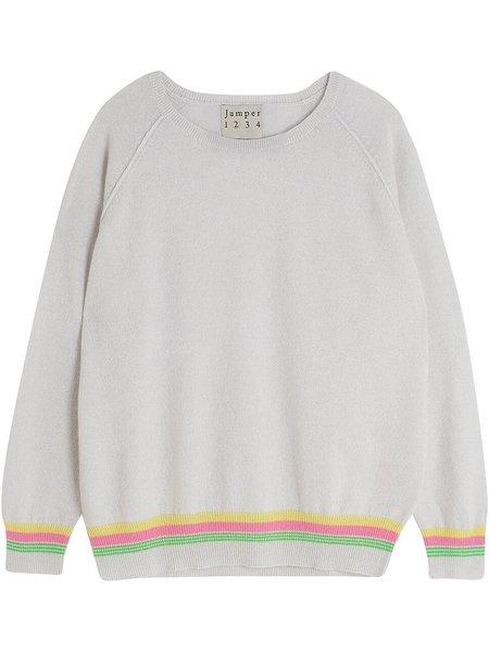 Jumper 1234 Mini Super Stripe Sweater in Greige