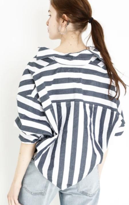 A Shirt Thing Sammy Shirt - Black Charcoal Stripe