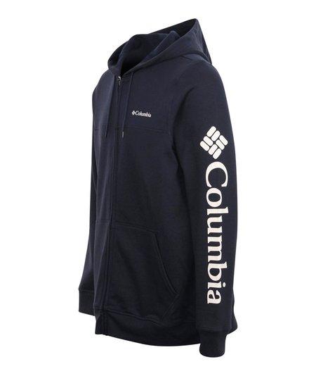 Columbia Logo Fleece Full Zip Hoodie - Navy
