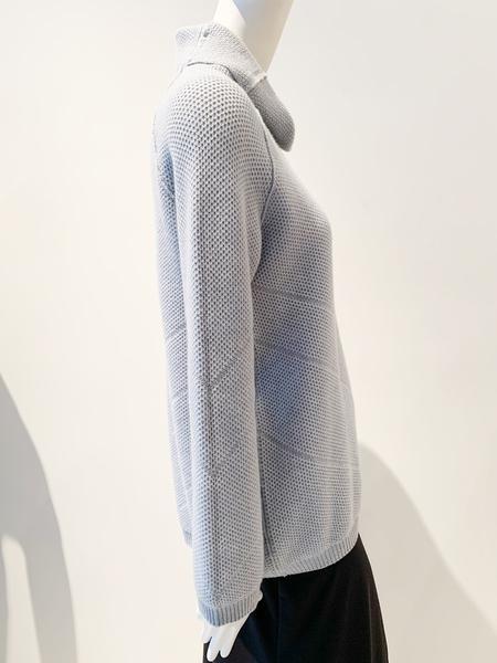 Tonet cashmere mock neck long sweater - pale blue gray