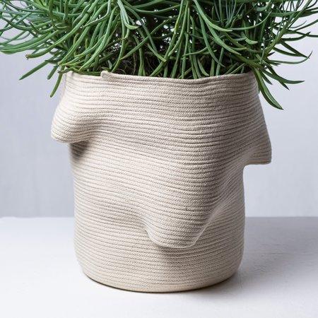 Amelia Samari Billow Large Basket - Natural
