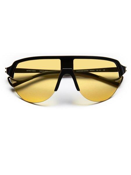 District Vision Nagata Black Sunglasses - yellow