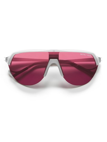 District Vision Nagata Sunglasses - CLEAR BLACK ROSE