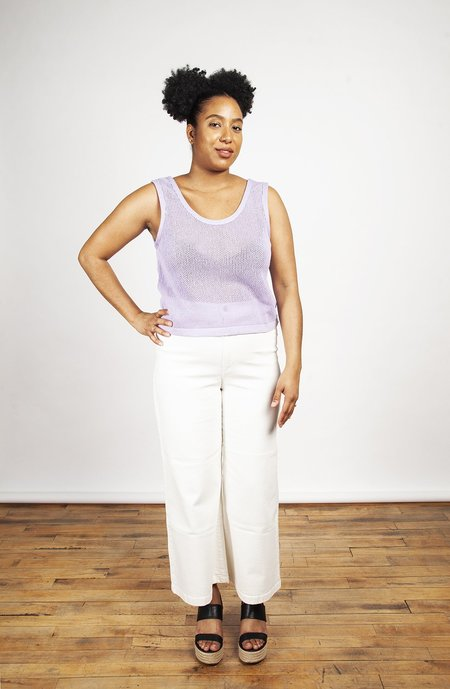 Eve Gravel Iris Top - Lavender