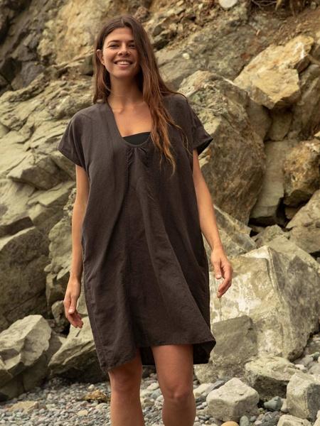 Mollusk Oversized Cover Up Dress - black