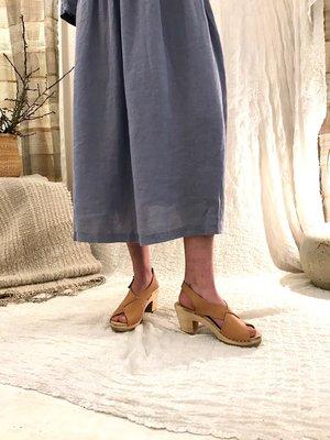 No.6 Crossover Clog On High Heel