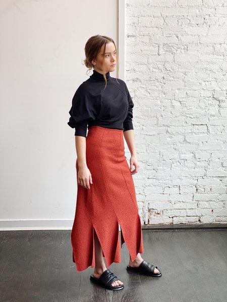 Grind and Glaze Linear Skirt - Terracotta