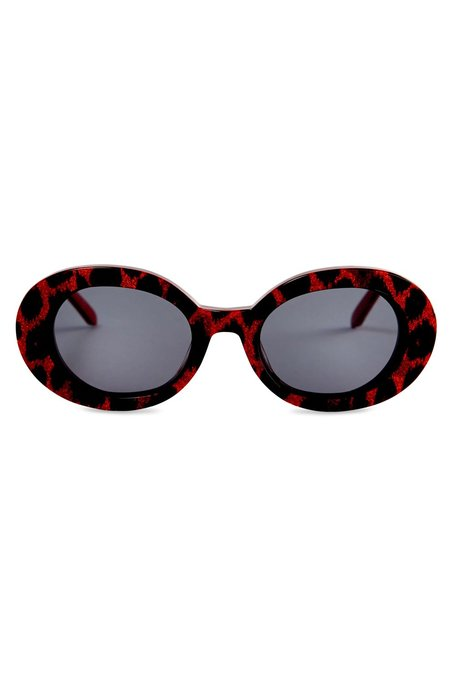 Vow London Selena Glasses - Red Leopard