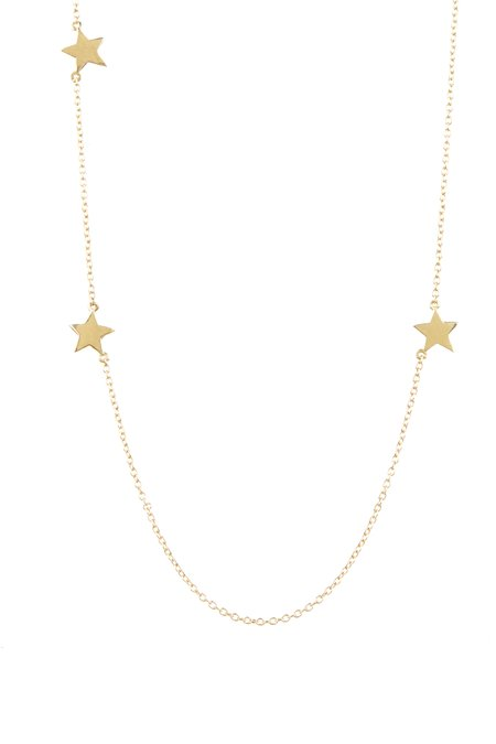 Tiffany Kunz Triple Star Necklace - 14K Gold