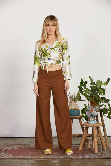 Jessica Redditt Wallflower Wrap Top