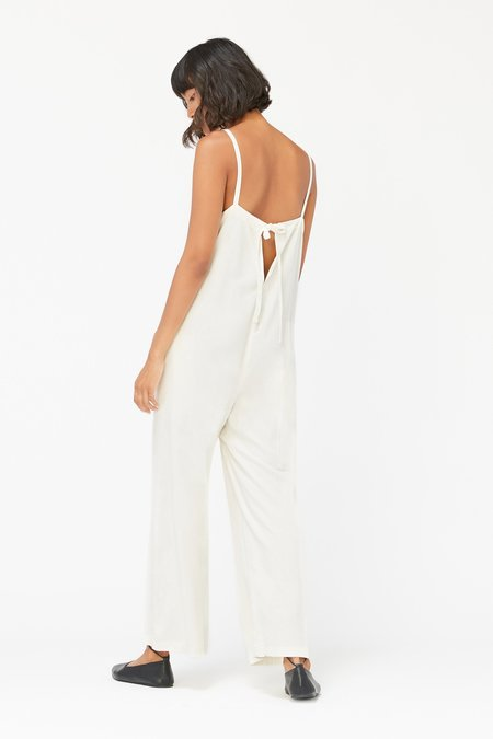 Lacausa Silk Brooks Jumpsuit - Natural Silk
