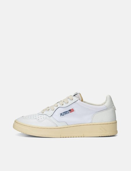 Autry Medalist Crackled Leather/Nylon CN01 Trainers - White