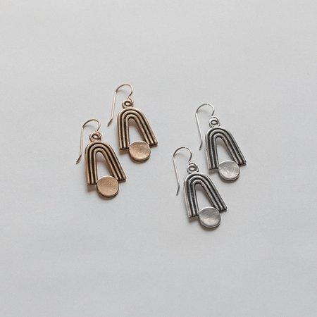 Knuckle Kiss Highbow Earrings - Sterling Silver