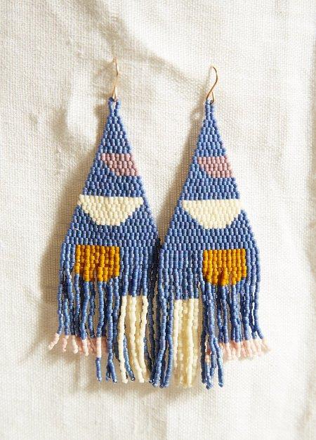 Blackbird Dagger Gishiki Earrings - Blue