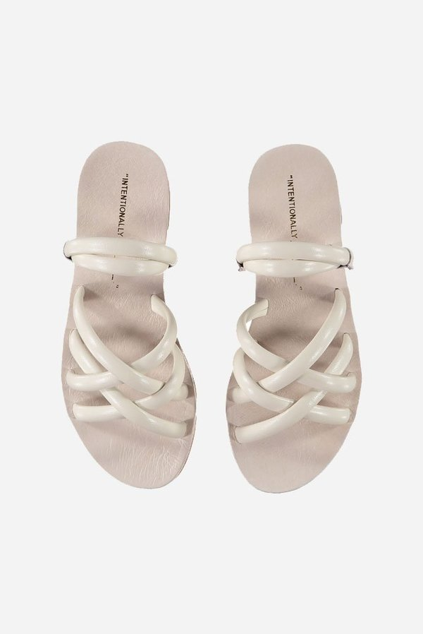 """""""INTENTIONALLY __________."""" Canary Sandal"""
