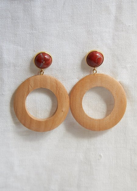Sophie Monet Moon Earrings - Red