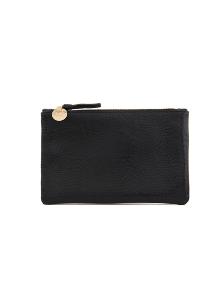 Clare V. Wallet Clutch - BLACK LIZARD