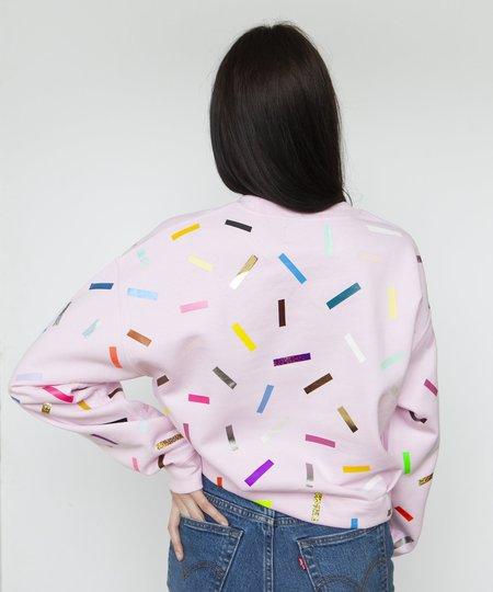OKAYOK 'Paige Confetti Sweatshirt' Pink