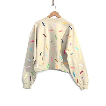 OKAYOK 'Paige Confetti Sweatshirt' Sand
