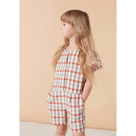 kids on the moon mineral short overalls