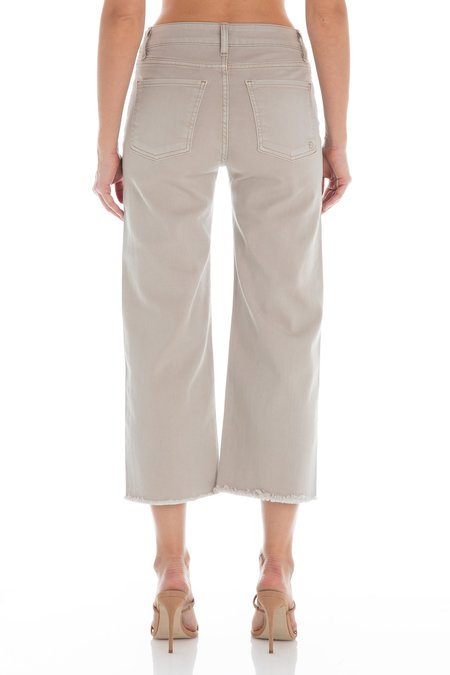 Fidelity Denim Malibu Wide Leg Crop Stone