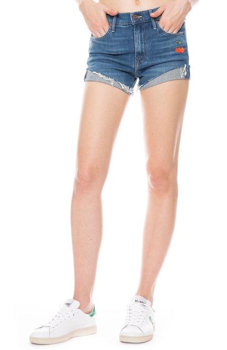 Mother Denim Rascal Slit Flip Shorts - GOLD RUSH