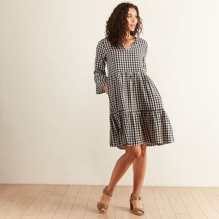 Hartford Gingham Rain Dress - Navy