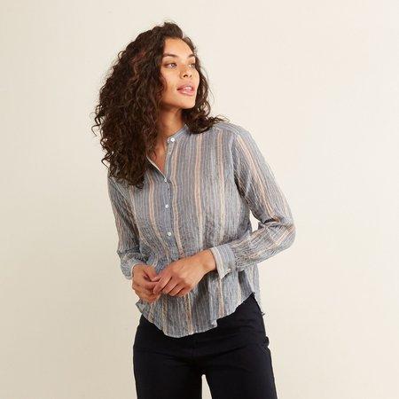 Hartford Striped Cody Shirt - blue