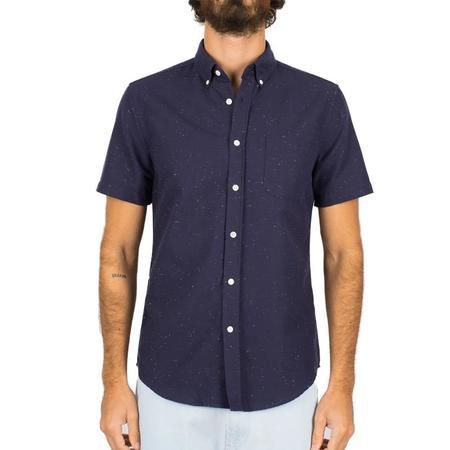 Portuguese Flannel Button Up- Blur Navy