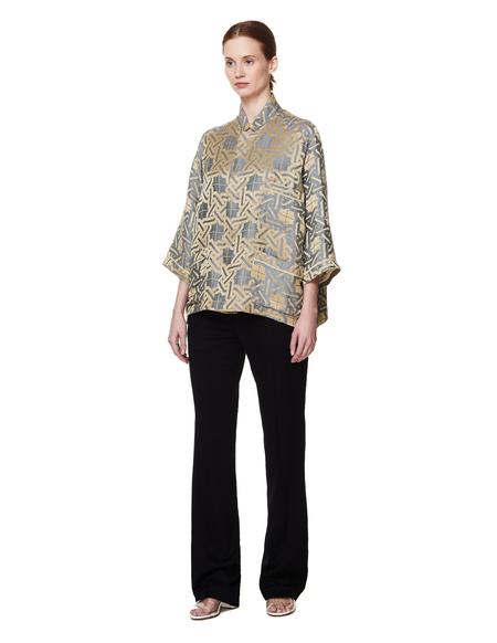 Haider Ackermann Linen and Silk Shirt - Khaki